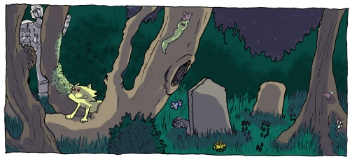 Ringo runs in The Graveyard Cats issue 1